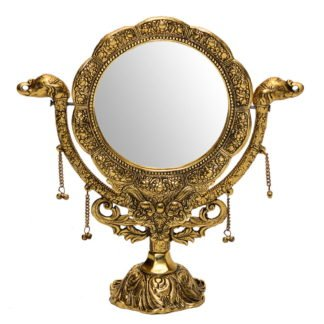Darpana lustro z mosiądzu 35 x 35